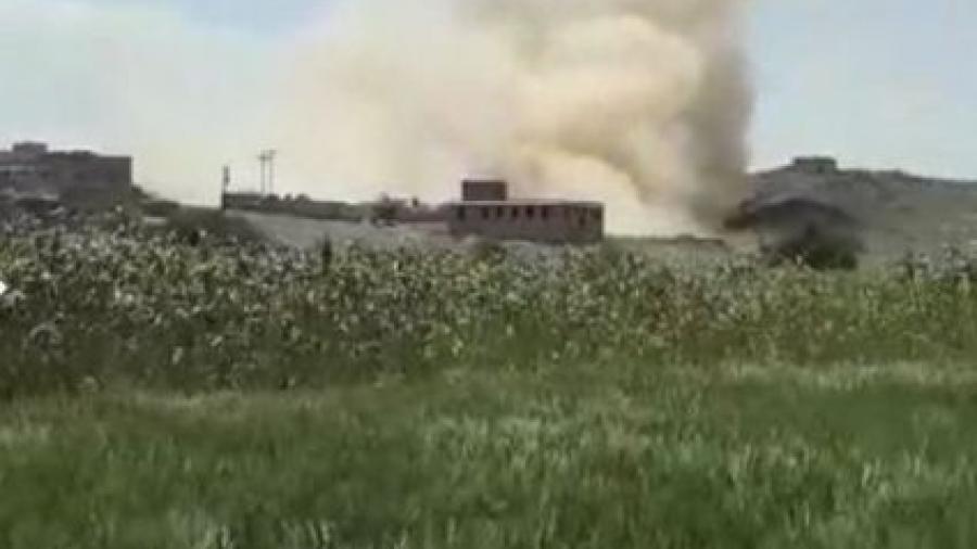 مليشيا الحوثي تفجر منزلا لاحد المغتربين اليمنيين في محافظة البيضاء