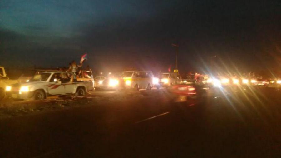 تأييدا لشرعية الرئيس هادي.. وصول عشرات الحافلات من مختلف المحافظات الجنوبية إلى عدن