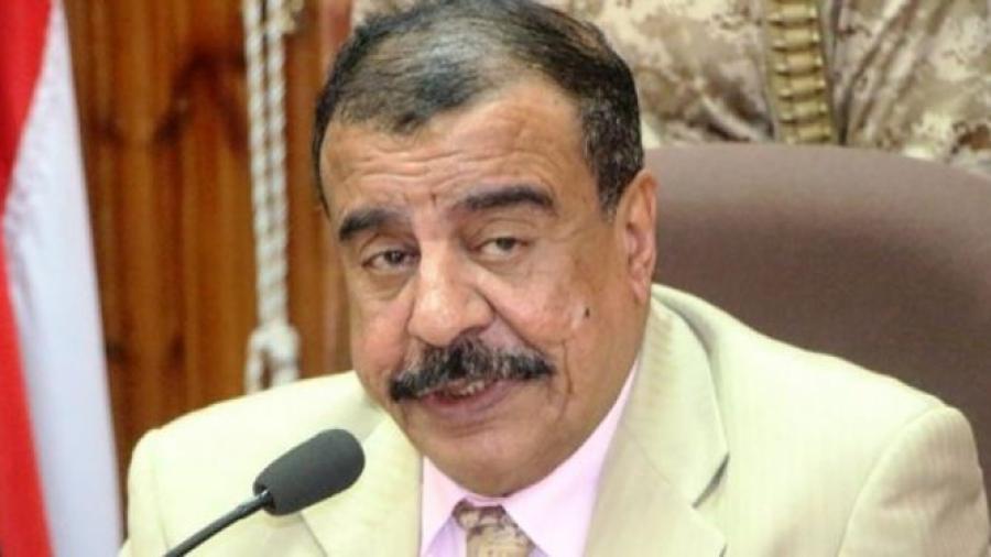 """هام.. محافظ حضرموت يبدي استغرابه من ورود اسمه في مجلس """"عيدروس"""" الانقلابي الحنوبي"""