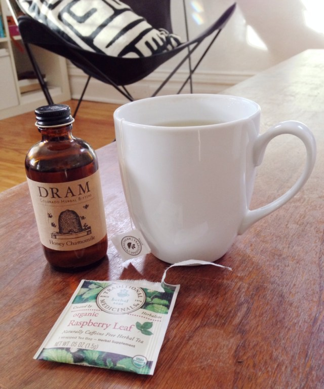 A Denver Home Companion | raspberry leaf tea w honey chamomile from dram apothecary