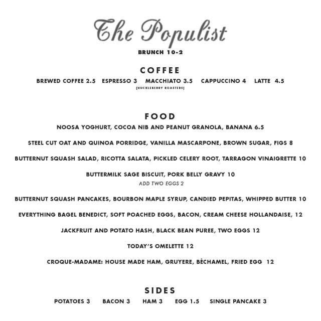 A Denver Home Companion | brunch at the populist