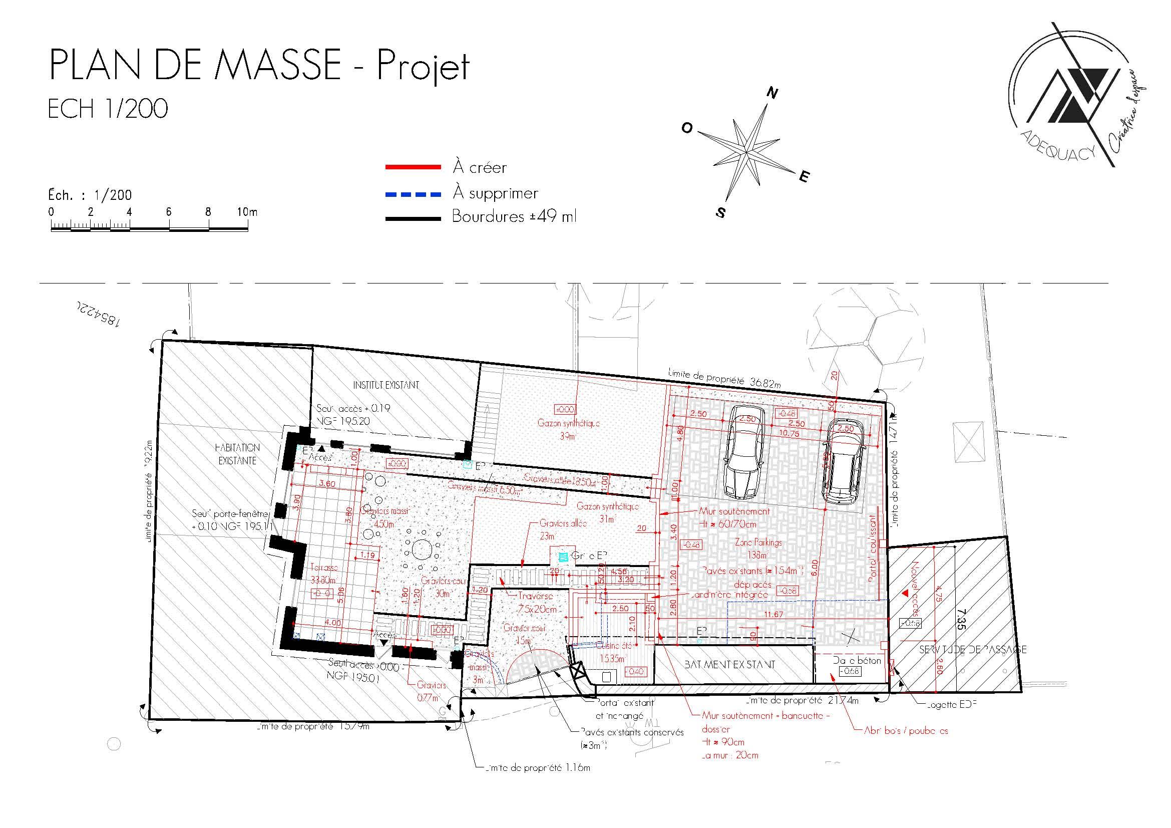 Plan de masse détaillé