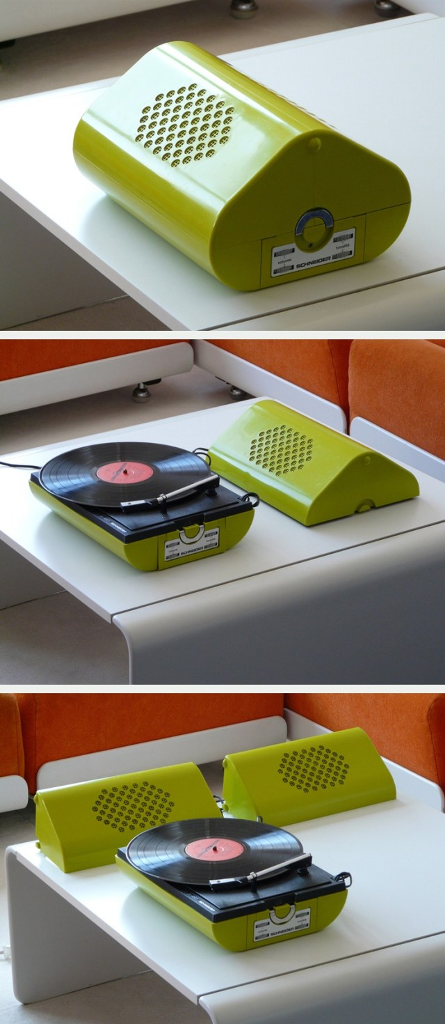 1970s Schneider vintage record player #product_design #industrial_design