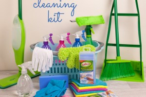 Make a home cleaning kit filled with the best essentials!