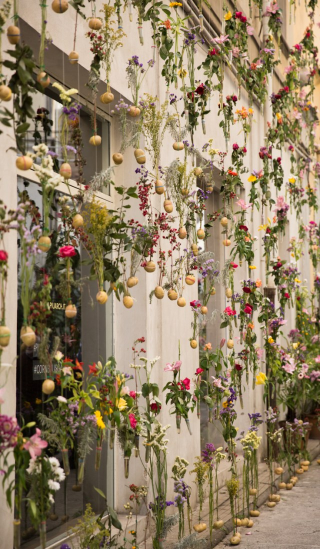 A floral extravaganza covering the exterior of architecture studio Piuarch's headquarters in Brera Design District, 'Flowerprint' forms an impromptu garden from the building's roof to ground floor. The Ultimate First-Timer's Guide to Milan Design Week | Fuorisalone Milano