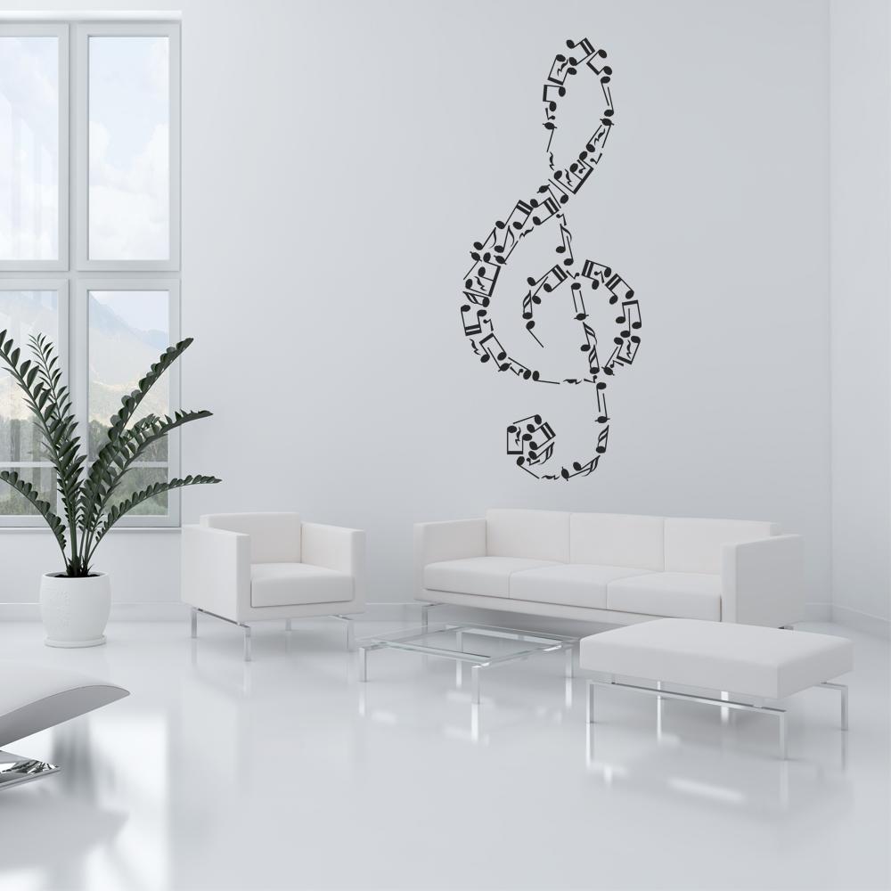 Grandi note musicali adesivo murale farfalla rimovibile adesivi murali. Adesivi Follia Adesivo Murale Note Musicali
