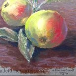 Apples in pastel
