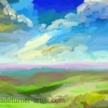 Imaginary landscape ArtRage iPad