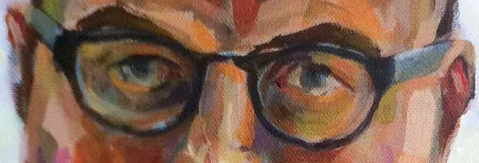 Acrylic portrait of Ben almost complete
