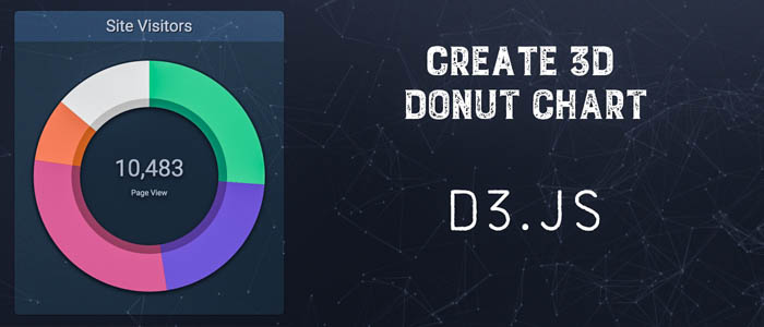 Create 3D Donut Chart using D3.js