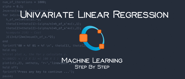 Univariate Linear Regression using Octave – Machine Learning Step by Step
