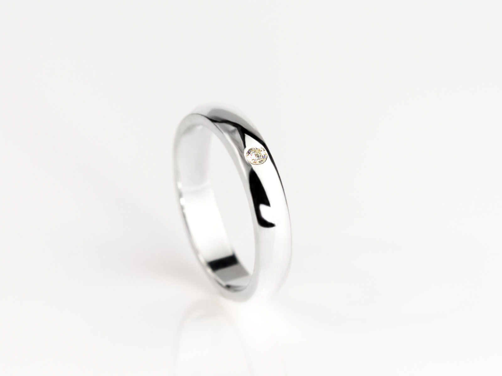 Diamond In The Ring Elegant Sterling Silver Ring With