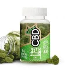 CBDfx CBD Gummies with Turmeric & Spirulina – Antioxidant