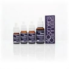 4CC, 4 Corners Cannabis, Four Corners Cannabis, 4CC blue bottle, 4CC blue label