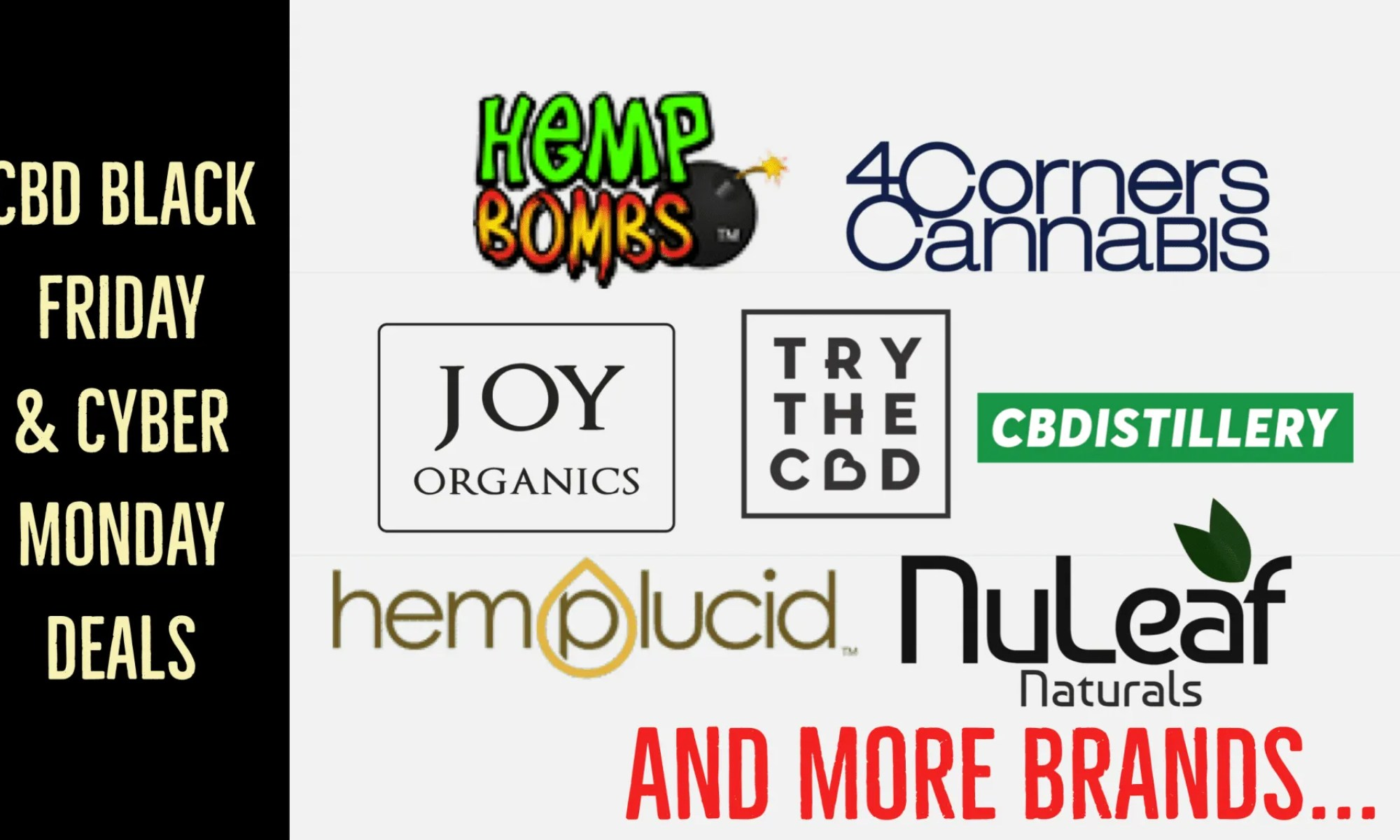 Black Friday cbd, Cyber Monday cbd, CBDistillery Black Friday, NuLeaf Black friday