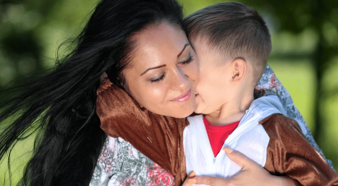 Moeder en zoon met ADHD