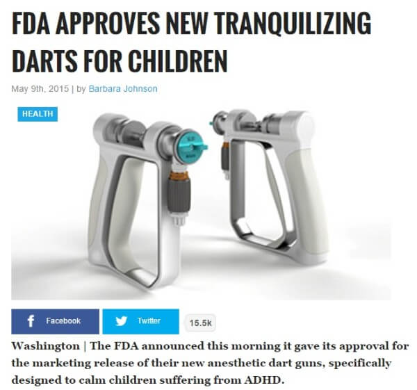 FDA Approves New Tranquilizing Darts for Children with ADHD