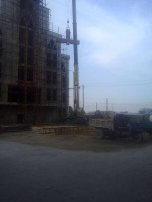 河南省安阳市龙安区申家岗教堂被强拆十字架 5