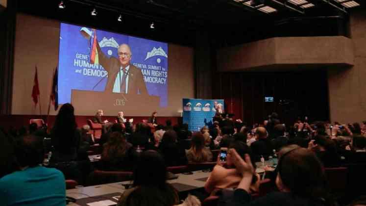 委内瑞拉代表安东尼奥·立德马现场演讲(图:李珍熙)