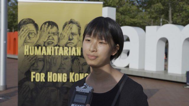 保护人权与宗教自由协会的志愿者王爽接受本站采访