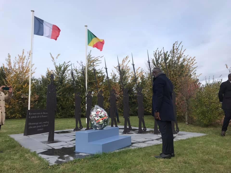 Verquin en France lors de l'hommage rendu aux combattants africains morts pour la France