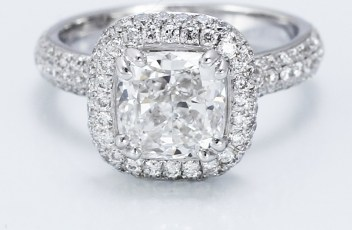 Custom Cushion Cut Diamond Engagement Ring by Adiamor