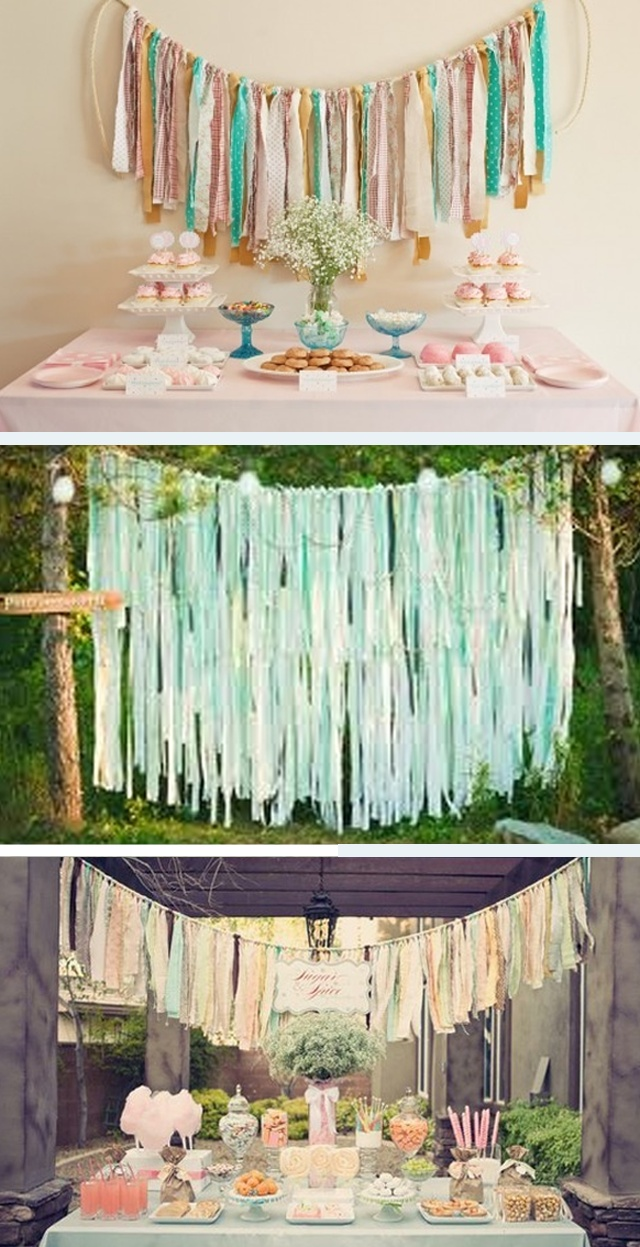 Fabulous Fabric Backdrops - Image courtesy of weddings by lily.com