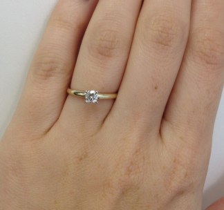 Diamond Solitaire Engagment Ring from Adiamor