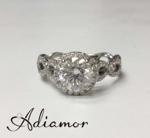 Adiamor's diamond halo ring