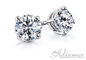 Round-Diamond-Stud-Earrings