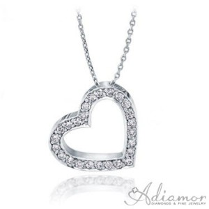 Tilted-Heart-Diamond-Pendant