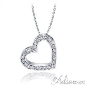 Tilted-Heart-Diamond-Pendant