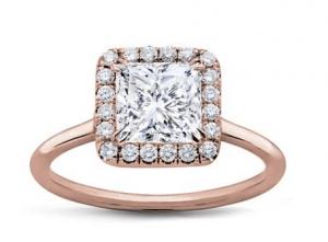 halo rose gold ring