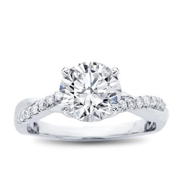 Diamond Twist Engagement Ring Setting R3050