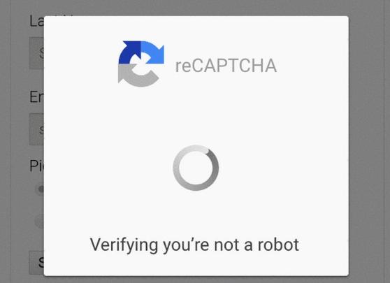 reCAPTCHA para Android