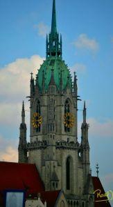 La iglesia San Pablo de Múnich fue Construida con piedra caliza de la pequeña localidad de Ansbach, entre los años 1892 hasta 1906.