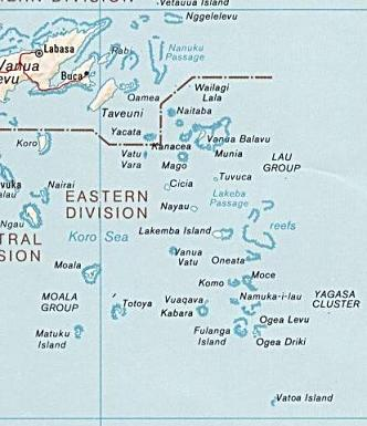 Lau Group of Fijian islands