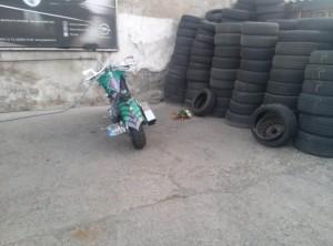 motocicleta in memoriam