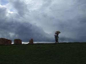 silueta in fata norilor Madagascar