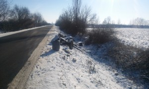 caruta lovita la marginea drumului (1)