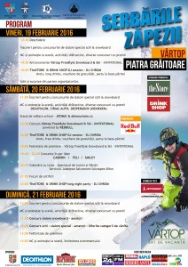 Program Serbările Zăpezii Vârtop Piatra Grăitoare 2016 2