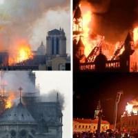 Incendii în oglindă: palatul episcopal din Oradea și catedrala Notre Dame