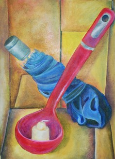 Nilya Mitchell, Full Color Assignment, Intro to Painting, MassArt, 2011