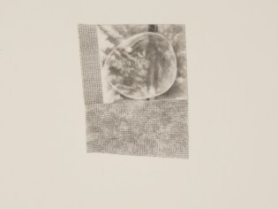 Bubble (detail), graphite on inlaid paper, 2011