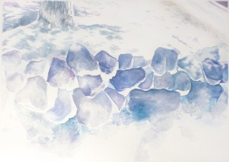 Minuteman, watercolor on paper, 12.5″ x 17.75″, 2013