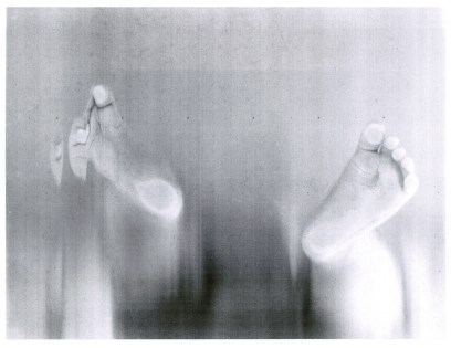 "August feet, photocopy, 8.5"" x 11"", 2016"
