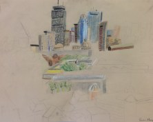 E. Moore, Cityscape, Drawing Fundamentals, MassArt Summer Intensives, 2013