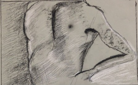 L. Sehringer, Quick Figure Drawing, Drawing Fundamentals, MassArt Summer Intensives, 2013
