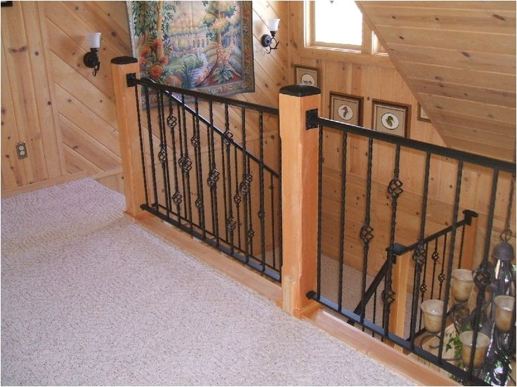Indoor Stair Railing Kits Home Depot Adinaporter | Metal Spindles Home Depot