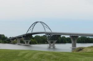 Crown Point Bridge Lake Champlain by John Warren